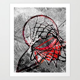 Basketball painting 198 Art Print