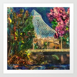 Lilac City 3: Pavilion, Riverfront Park Art Print