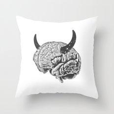 Devil's Haircut Throw Pillow