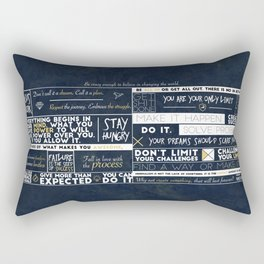 Motivation - 25 Quotes Rectangular Pillow
