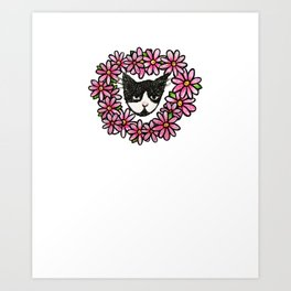 Tuxedo Kitty Cat Love Art Print