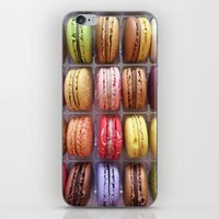 macarons iPhone & iPod Skins featuring Macarons  by Laura Ruth
