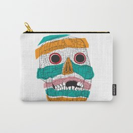Stripy Skull  Carry-All Pouch