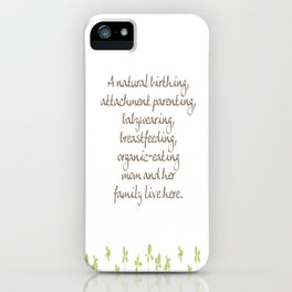 Natural Momma iPhone Case
