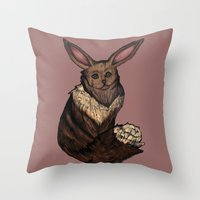 eevee Throw Pillows featuring Eevee by Papa-Paparazzi