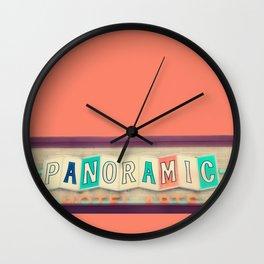 Retro Photograph - vintage sign Wall Clock