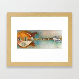 Rickenback Guitar Framed Art Print