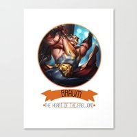 league of legends Canvas Prints featuring League Of Legends - Braum by TheDrawingDuo