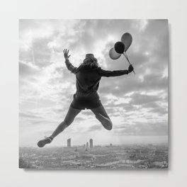 Jumping on Lyon skyline Metal Print