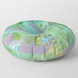 Blue and Pink Swirls Floor Pillow
