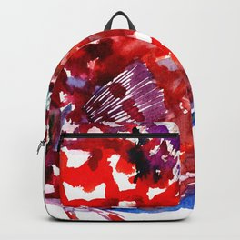 Scarlet Red Discus Backpack