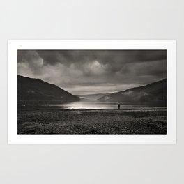 Tranquil Loch Long Art Print