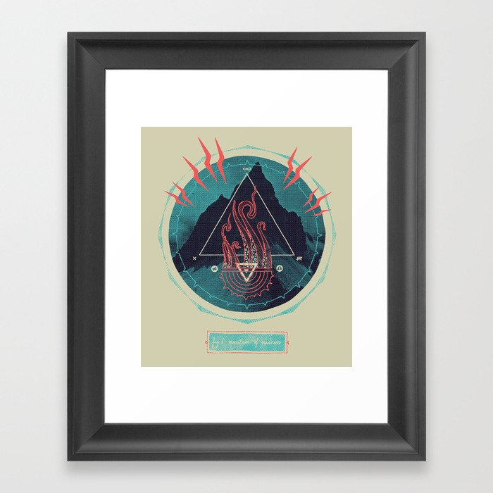 Mountain of Madness Framed Art Print