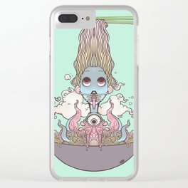Ramen Noodle And Octopus Tentacle Anime Girl Clear iPhone Case