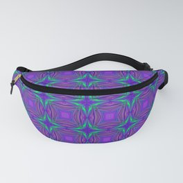 Purple and Green Star Pattern Fanny Pack