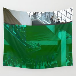 louvre glitch Wall Tapestry