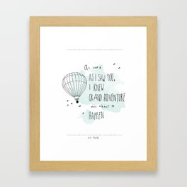 A. A. Milne Quote Framed Art Print