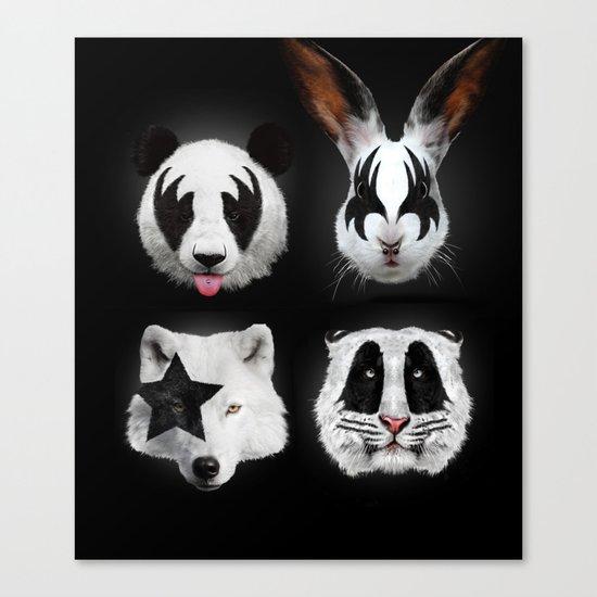 Kiss of animals Canvas Print