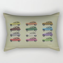 Five Renault 4's Rectangular Pillow