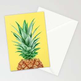 Yellow Pineapple Stationery Cards
