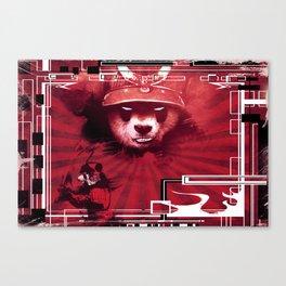 Red Ronin Panda 2 Canvas Print