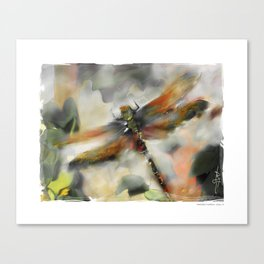 Dragonfly Garden - Canvas Print