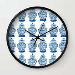Blue and White Ginger Jars  Wall Clock
