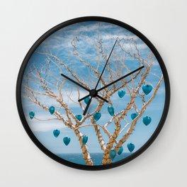 Cabo Glass Hearts Wall Clock
