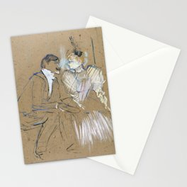 """Henri de Toulouse-Lautrec """"Lucien Guitry et Jeanne Grânier"""" Stationery Cards"""