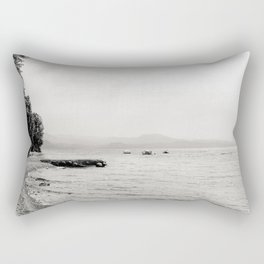 Misty Beach Rectangular Pillow