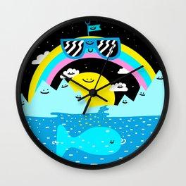 Rainbow Space World Wall Clock