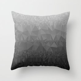 Black and Grey Ombre - Flipped Throw Pillow