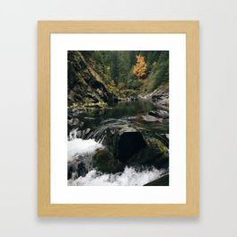Autumn In The Cascades Framed Art Print
