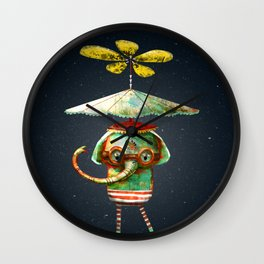 Curious Little Elephant Wall Clock
