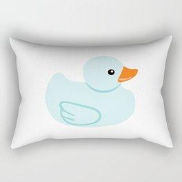 Baby blue rubber duck Rectangular Pillow