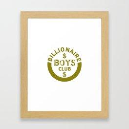 billionaire boys club #society6 #decor #buyart #artprint Framed Art Print