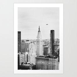 Manhattan Cityscape no.2 B&W Art Print
