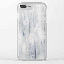 Soir d'hiver Clear iPhone Case