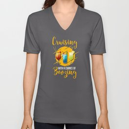 Cruising With A Chance Of Boozing Wave Unisex V-Neck