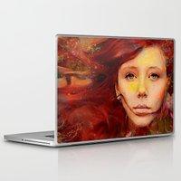 irish Laptop & iPad Skins featuring Irish fairy by Ganech joe