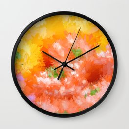Colorful Abstraction 2 Wall Clock