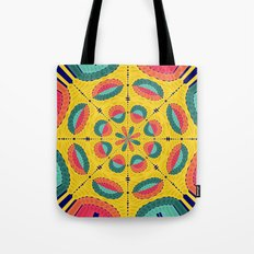Textured tropical mandala Tote Bag