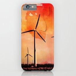 Wind energy iPhone Case