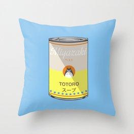 My Neighbor Toto ro - Miyazaki - Special Soup Series  Throw Pillow