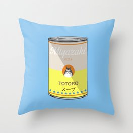 My Neighbor Toto ro - Miyazaki - Special Soup Series  Throw Pillow