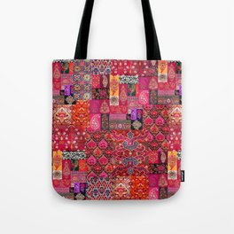 N98 - Traditional Heritage Boho Oriental Moroccan Collage Style. Tote Bag