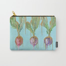 Radishes in Gold Carry-All Pouch