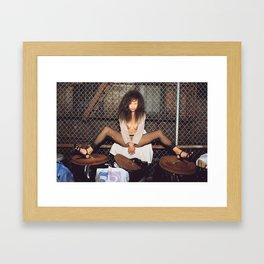 Flash Me Framed Art Print