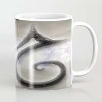swan Mugs featuring Swan by CrismanArt
