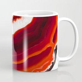 Red Agate Geode slice Coffee Mug